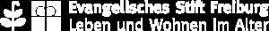 Logo des Evangelischen Stift Freiburg in Weiß