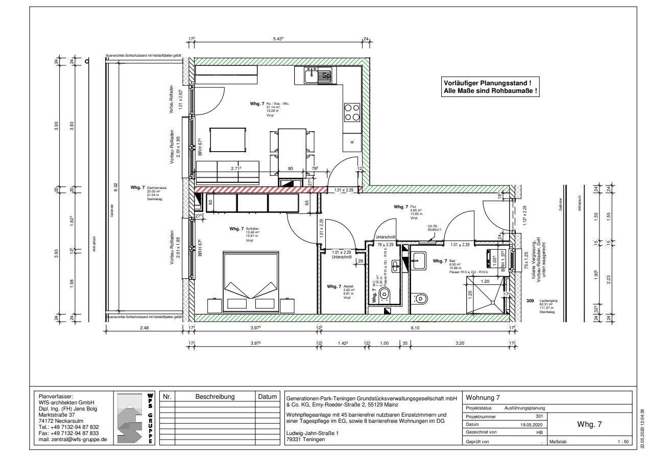 Wohnung 7: Wohnen Sie in unserer attraktiven Dachgeschosswohnung