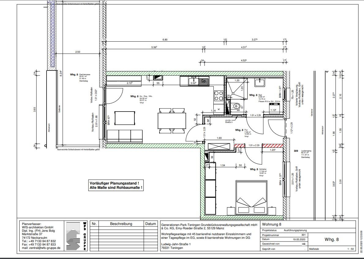 Wohnung 8 im Generationenpark Teningen: wohnen Sie im Dachgeschoss des Generationenpark Teningen und verfügen über ca. 78 m²!