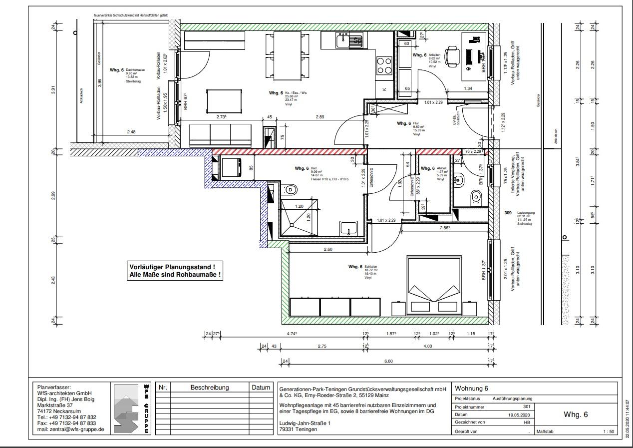 Wohnung 6 im Generationenpark Teningen: wohnen Sie im Dachgeschoss des Generationenpark Teningen und verfügen über ca. 78 m²!